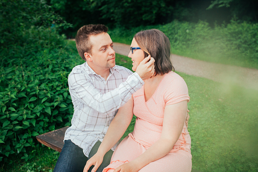 Malin & Martin, parfotografering - Fotograf Elsa Wiliow, Borlänge, Dalarna.